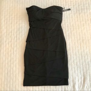 Black Fitted Instantly Slimming Little Black Dress